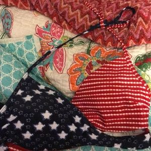 Hollister Co. American Flag bikini top